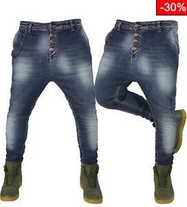 Jeans Uomo Cavallo basso Turca klixs Denim Harem pantaloni slim elasticizzati