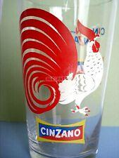 CINZANO BICCHIERE MISCELATORE CINCIN GALLO COCKTAIL ICE MIXING GLASS VINTAGE BAR