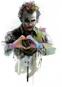 "Joker Patch Iron On Heat Transfer Graphic Applique 3.50"" X 2.36"" Batman Comics"