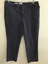 Talbots 18W 18 Jeans Gray Pants 38X30 Stretch Tailored Fit Pinstriped Straight