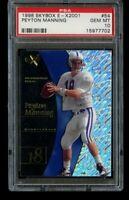1998 98 Skybox E-X2001 Peyton Manning Rookie PSA 10 Gem Mint RC #54