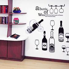 Hot DIY Bar KTV Restaurant Kitchen Decor Art Removable Wall Decals Wall Sticker