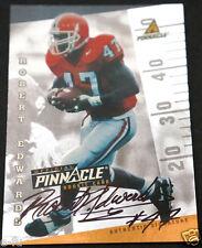 1998 Pinnacle ROBERT EDWARDS RC Autograph Georgia Bulldogs Auto Print Run /500
