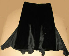 Ralph Lauren Women's Black Gorgeous Velvet/Silk Asymetrical Skirt 16