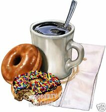 Coffee Amp Donuts Decal 14 Food Truck Concession Restaurant Cart Vinyl Sticker