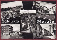 LECCO MERATE 09 SALUTI da... VEDUTINE Cartolina FOTOGRAFICA viaggiata 1972