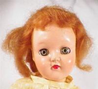 Ideal Toni Doll Hard Plastic P-80 Vintage Auburn Hair 14 inches