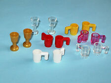 LEGO 14x Cup Mug Goblet Wine Glass Drink Food Utensil Trans Beer Gold Minifigure