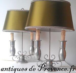 Superbe paire lampe bouillotte art Déco moderniste old