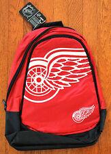 Detroit Red Wings BackPack / Back Pack Book Bag NEW NHL - TEAM COLORS BIG LOGO