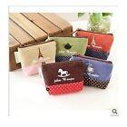 1pc Women Girl Rustic Retro Card Coins Keys Hemp Purse Wallet Bag Holder