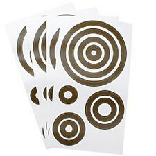 AMY COE Simply Swirl Brown Circles Wall Sticker Decals