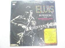 ELVIS PRESLEY (2lp) PERSON AT INTERNATONAL HOTEL RARE LP record INDIA 100 VG-