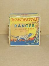 VINTAGE WINCHESTER RANGER 12 GAUGE SHOTGUN SHELLS BOX EMPTY Staynless