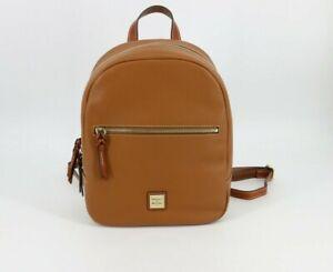 Dooney & Bourke Pebble Grain Leather Ronnie Backpack Bag Caramel Tan Brown