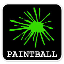 "Paintball car bumper sticker window decal 4"" x 4"""