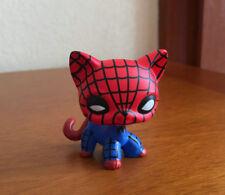 Littlest Pet Shop Custom OOAK LPS Cat SPIDERMAN SUPER HERO Hand Painted Figure