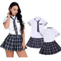 Naughty Women School Girl Uniform Student Lingerie Dress Halloween Party Costume