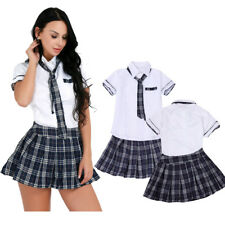 Naughty Mujer Vestido de Lencería Estudiante Uniforme Escolar Niña Halloween Fiesta Disfraz