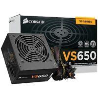 Corsair VS650 650W PSU 80 Plus Rated ATX PC Power Supply - CP-9020098-UK
