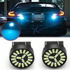8000K Ice Blue 7443 4014 SMD LED Reverse Back Up Signal Brake Light Bulbs 2Pcs