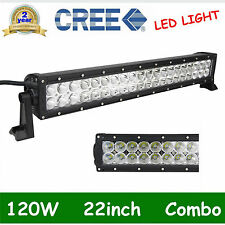 22'' 120W CREE LED Light Bar Spot Flood Driving Lamp Boat Jeep Truck 12V 24V OFF