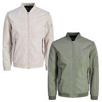 Jack & Jones Mens Bomber Jacket Classic Casual Lightweight Full Zip Winter Coats
