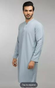 Pakistani Indian Men Stitched Kameez Kurta Size S GulAhmed Orignal Desi Clothes