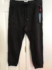 NWT True Religion Mens' Drop Crotch Sweatpants Joggers Black Size Large