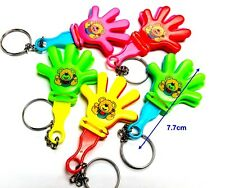 10pc Mini Hand Clapper with Key Chain Pinata Filler Birthday Party Favor Novelty