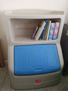 Step2 / Little Tikes Toy Box Chest with bookshelf Cabinet book Storage Kids