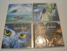 "Lot of 4 NEW Relaxation Music - ""The Sea"", ""Morning Rain"", ""Night Bird"" & Stream"