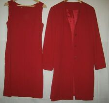 Marilyn Anselm for Hobbs lined occasion/party red dress suit size 14