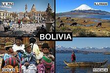SOUVENIR FRIDGE MAGNET of BOLIVIA