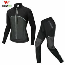 Conjunto De Ciclismo Camiseta Pantalones De Invierno Chaqueta Lana Térmica Bicicleta de Montaña Bici cálida ropa para hombres