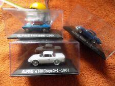 ALPINE A110 + ALPINE A108 coupé + ALPINE A108 cabriolet - LOT 3 Miniatures 1/43