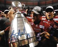 Bo Levi Mitchell Calgary Stampeders CFL Football auto 8x10 photo Grey Cup w/COA