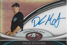 Deck McGuire Autographed Bowman Platinum Card