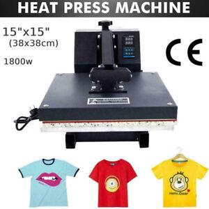 T Shirt Sublimation Printer Digital Transfer Heat Press Machine 38x38cm
