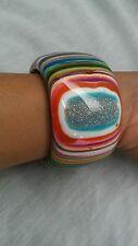 Stunning Statement Jackie Sobral Brazil multi colors wide bracelet
