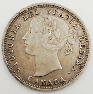 1858 Canada 20 Cent Victoria Silver Coin Only Year Minted Rare 4.6g