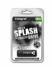 Integral SPLASH 8GB Black Water-Resistant Shock-Proof Rubberised USB Stick