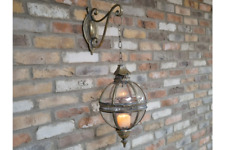 Globe Candle Holder Lantern Bracket Moroccan Metal Lamp Rustic Wall Light 80cm
