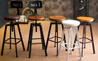INDUSTRIAL RETRO URBAN RUSTIC METAL BAR STOOL SWIVEL CAFE COUNTER CHAIR
