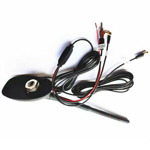 12V DAB + FM/AM Car Radio Antenna Aerial  GPS Navi Amplifier Roof Mount 5M Cable