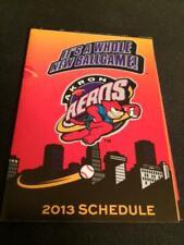 2013 Akron Aeros Baseball Pocket Schedule Indians Affiliate