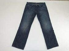 7 For All Mankind Mens A Pocket Relaxed Jeans Size 38 x 34 Button Fly Blue Denim