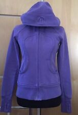Lululemon Women's Scuba Hoodie,Sweatshirt-Size 6 purple full Zip heavy athletic