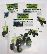 3 Vintage Yanmar Diesel Lawn Tractor Mower Brochures Specification Spec Sheets