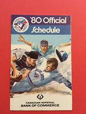 1980 Toronto Blue Jays Baseball Pocket Schedule Canadian Imperial Original VTG
